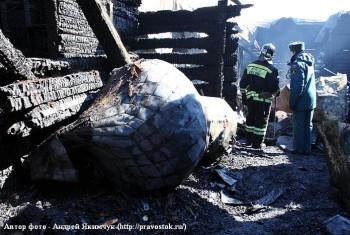 Православная община поселка Солонцовый передала деньги на восстановление сгоревшего храма