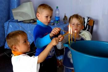 В поселке Елабуга впервые было совершено Таинство Святого Крещения