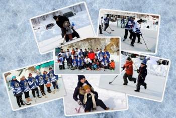 Хоккей на валенках!