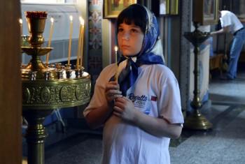 Начало Третьей Международной Парусной Регаты предварил молебен в Свято-Иннокентьевском храме