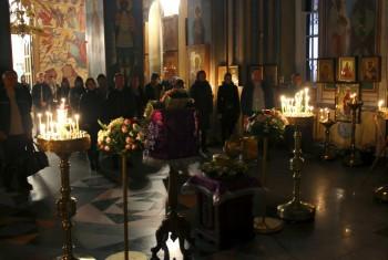 Ночное уставное богослужение в Свято-Иннокентьевском храме. 30 сентября