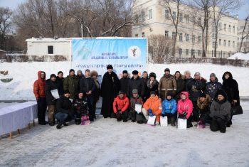 Первый Дальневосточный православный конкурс ледовой скульптуры «Рождественские узоры Амура» завершился!