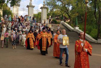Крестный ход в день юбилейного воспоминания убиения Царской семьи. Фоторепортаж