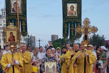 Крестный ход в честь святых благоверных князей Петра и Февронии Муромских