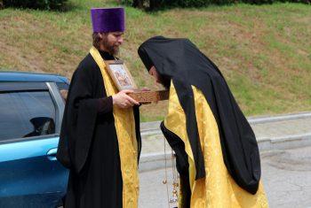 Ковчег с мощами святого князя Александра Невского побывал на нашем приходе