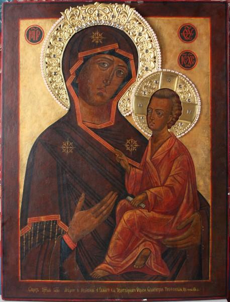 Старинный список Тихвинской чудотворной иконы Божией Матери