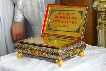 Ковчег с частицей Животворящего Креста Господня посетил село Маяк