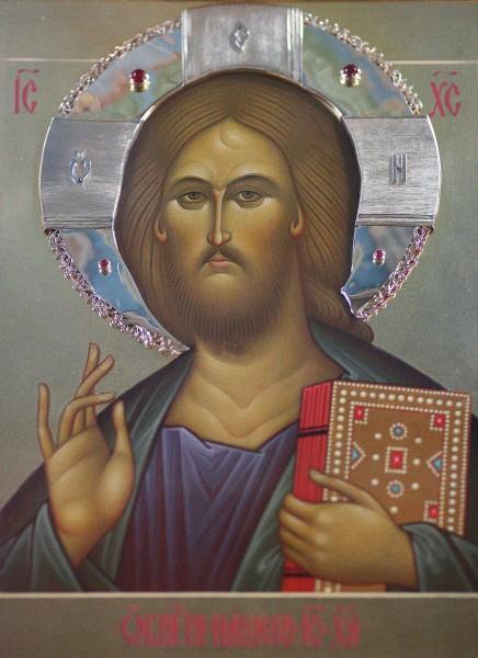 Икона Господа Иисуса Христа, подаренная в качестве благословения храму Патриархом Московским и всея Руси Алексием II