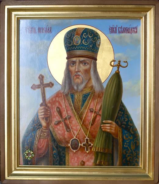 икона святителя Иосафа Белгородского с частицей его святых мощей