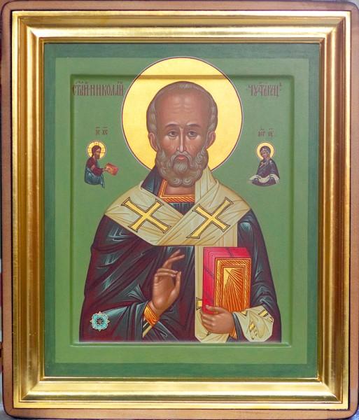 икона святителя Николая Мир Ликийских Чудотворца с частицей мощей