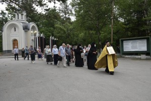 Молебен  в годовщину памяти расстрела святой Царской Семьи